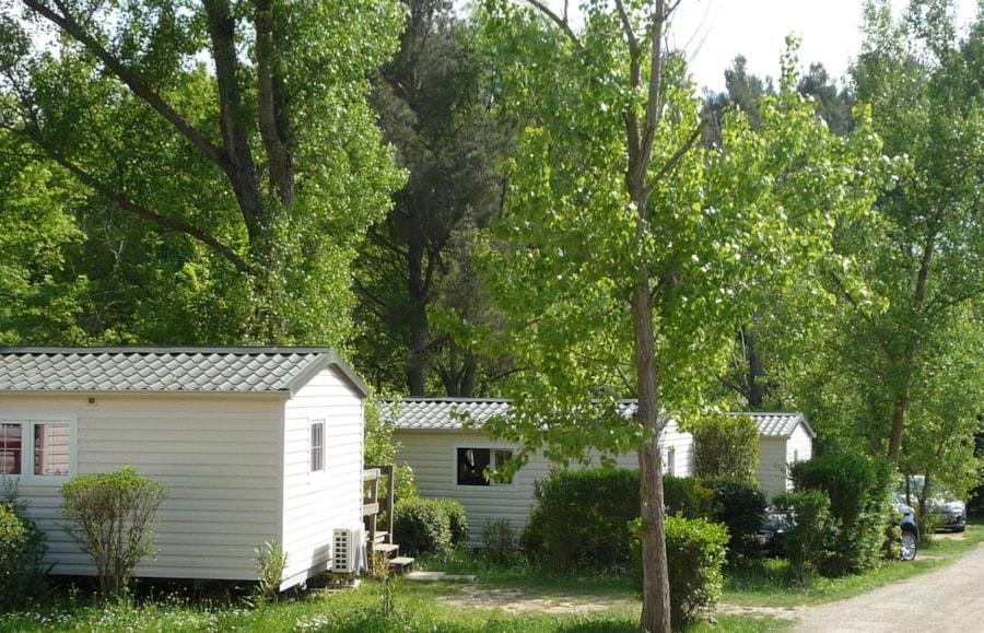 Location Mobil Home Colorado - jardin et verdure - Camping Chantecler ★★★★ Aix en Provence (Sud de la France)