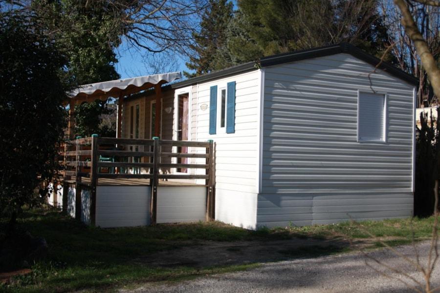 Location Mobil Home Luxe 33 - 4 personnes - 2 chambres - Camping Chantecler ★★★★ Aix en Provence (Sud de la France)