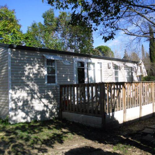 Location Mobil Home Privilège - 6 personnes - 3 chambres - Camping Chantecler ★★★★ Aix en Provence (Sud de la France)
